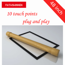 48 inch 10 points Multitouch USB Infrared IR Touch Screen Frame/Panel for Advertising Kiosk Touch Table(China)