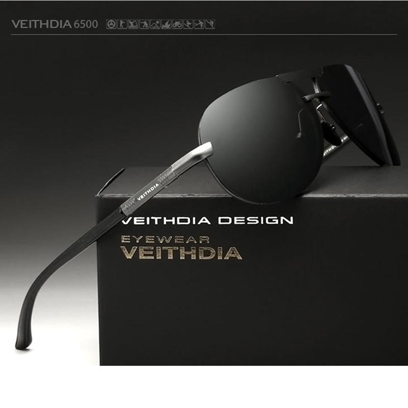 VEITHDIA Aluminum Alloy Mens Sunglasses Polarized Lens Driving Sun Glasses Male Outdoor Eyewears Accessories For Men 6500<br><br>Aliexpress