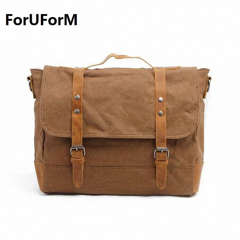 Mens Vintage Canvas School Military Shoulder Bag fashion leisure messenger bag men Mens Crossbody Bags LI-1204<br>