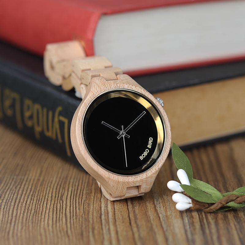 ساعة يد نسائية BOBO BIRD الخشبية الاصلية 9