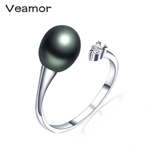 New Arrival Exquisite Unique Jewelry Ring Victoria Antique High Quality Silver Color Water Drop Pearl Design Ring for Lady