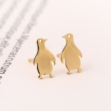 Jewelry Accessories Trending Products New Cartoon Penguin Animal Stud Earrings For Women Girl Gift(China)