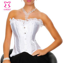 Bridal Wedding White Corset Sexy Lingerie Corsetto Gothic Corsets and Bustiers Corpete Corselet Overbust Corses Para Mujer