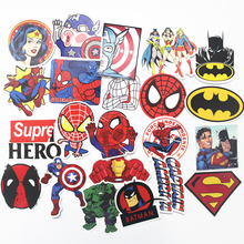 32PCS HOT Super Hero Stickers for kids laptop car decal fridge skateboard Batman Superman Hulk Iron Man sticker toy stickers