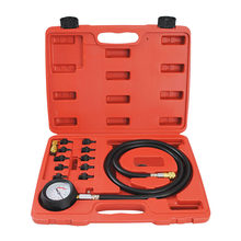 Full System Automotive Engine Oil Pressure Test Kit Tester Car Garage Tool 0-140PSI Low Oil Warning Devices car tools(China)