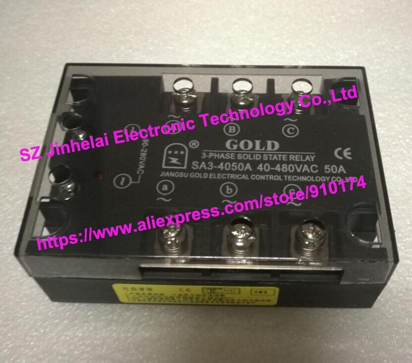 New and original SA34050A   SA3-4050A  GOLD  3-PHASE AC Solid state relay    40-480VAC  50A<br>
