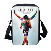 New Fashion Casual Flap Bags Michael Jackson Style 3D Messenger Bags For Teenage Girls Boys Pop King MJ School Crossbody Bags(China)