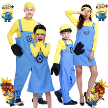 Free shipping explosion models Halloween costume Despicable Me little yellow man than the color of clothing Cos Costumes