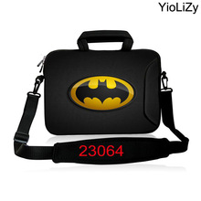 Batman print shockproof laptop shoulder bag 10 12 13.3 15 15.6 17 17.3 inch notebook sleeve protective briefcase case SB-23064(China)