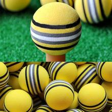 50Pcs Bright Yellow Golf Sports Yellow Rainbow Sponge Balls Light Indoor Outdoor Training Practice Aid Foam Golf Balls