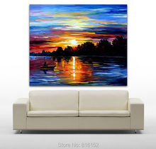 Life Memories Abstract Blue Paintings On Canvas Print Home Cafe Office Decoration