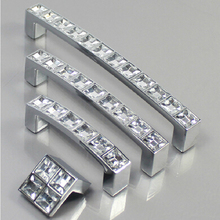 128MM Crystal Diamond Furniture Hardware Handle Door Drawer Wardrobe Kitchen Cabinets Cupboard Pull Knobs Handles Accessories(China)