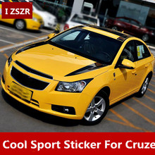 Simple Beauitful Cool Head + Roof Sticker For Chevrolet Cruze Z2CA454(China)