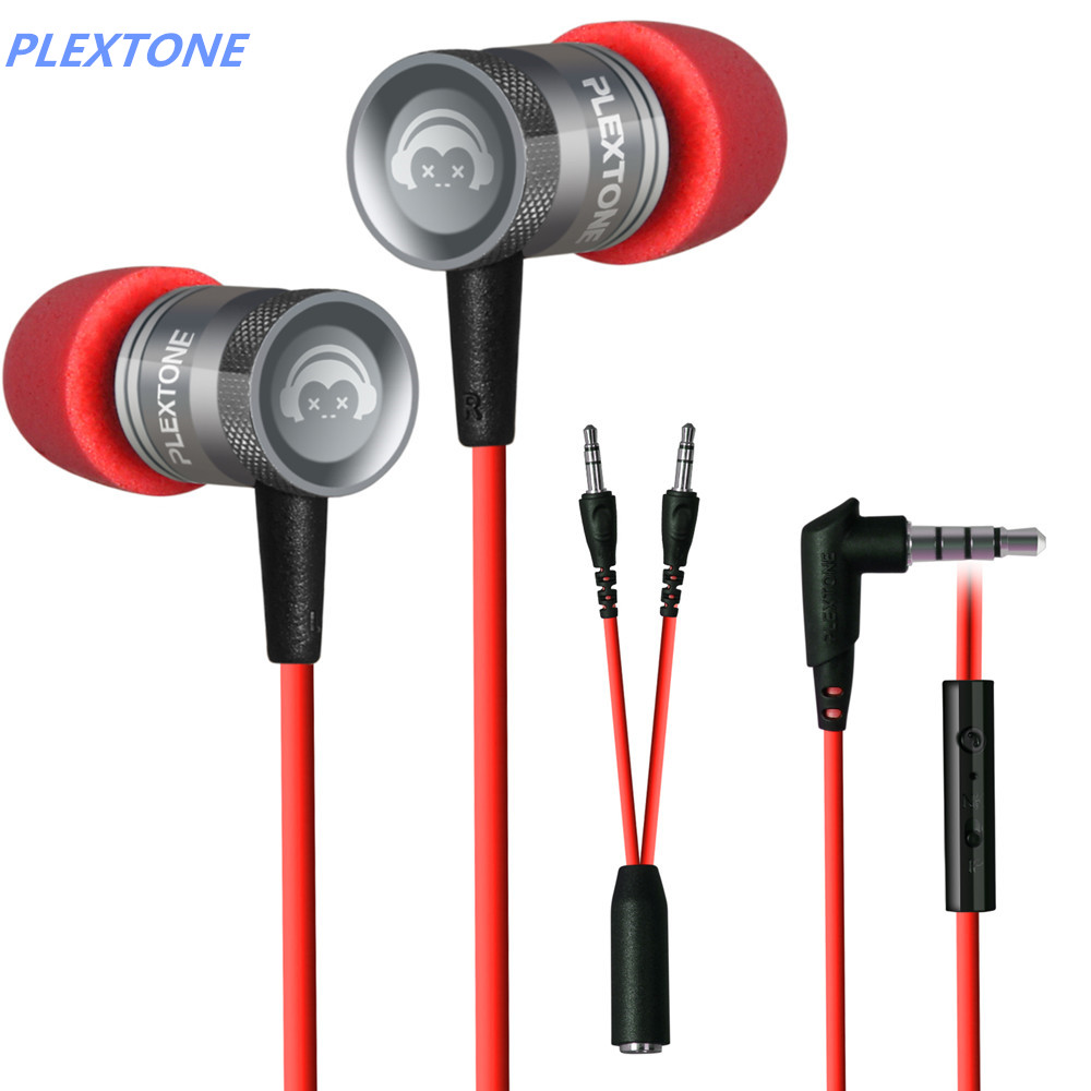 PLEXTONE G10 noise reduction earphone e-sports games sport headphones headset 3.5mm plug green and red color(China (Mainland))