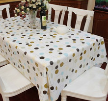 New Plastic Tablecloth circle Printed Waterproof Oilproof PVC Table cloth Cover Hotel Party Wedding Tablecloths household items