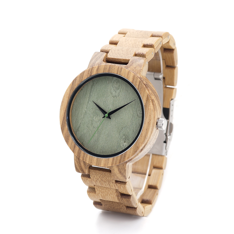 BOBO BIRD D07 Mens Bamboo Wristwatch Green Wood Dial Folding Clasp Quarzt Watch with Original Bamboo Band in Gift Box<br><br>Aliexpress