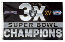 Oakland Raiders 5X Super Bowl Champions Man Cave Sports Banner Basketball Flag 3' x 5' Custom Hockey Baseball Football Flag