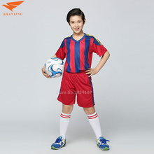 Survetement Soccer Jersey Kids Football Jersey Boys Custom Soccer Set Youth Football Uniform Boys Voetbal Tenue Kids 2017(China)