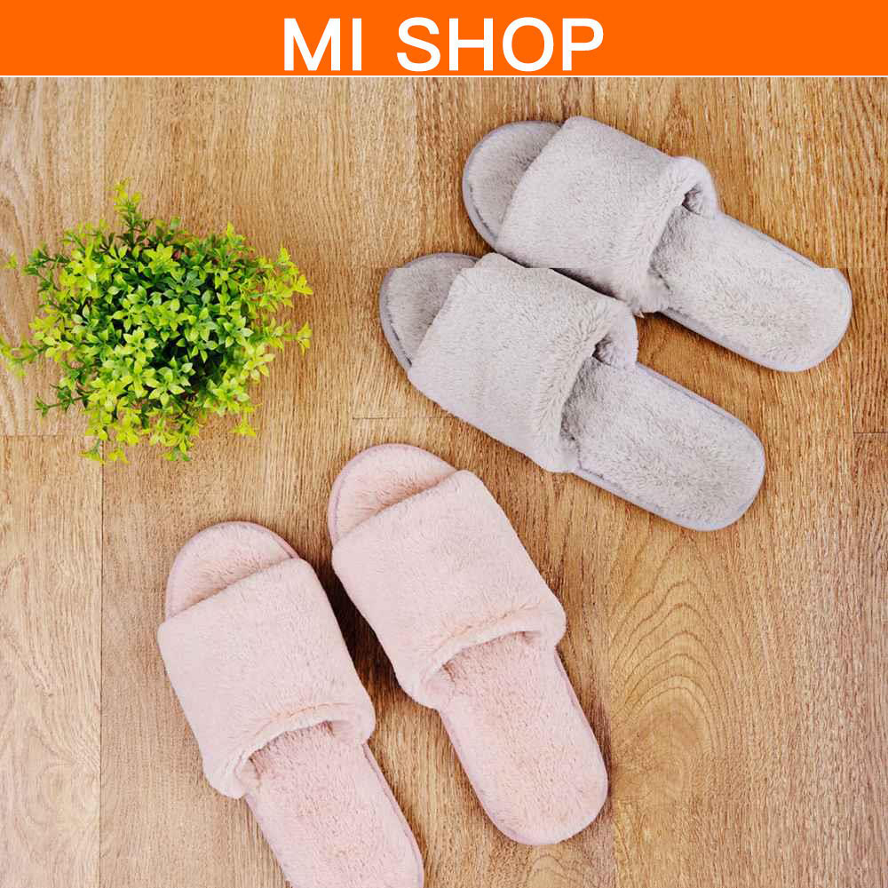 Xiaomi Mijia Men Women One Cloud Home Slippers Soft Faux Rabbit Fur Leisure Shoes Couple Slippers