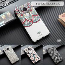 Fashion Painted Pattern TPU Silicone Soft sFor LG Nexus 5X Case For LG Nexus 5X Cell Phone Case Cover MC001(China)