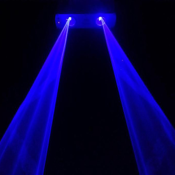 300mW 2 lens Blue 450nm-455nm Beam Laser Stage Light DMX Club Show DJ Bar Party Lighting Laser Lighting DMX DJ Show (4)