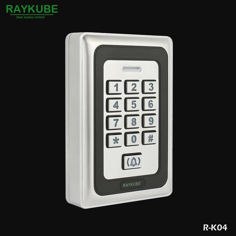 RAYKUBE Access Control Password Keypad RFID 125HKz Reader Metal Case R-K04<br>