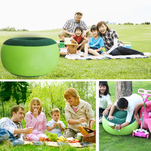 2016 Inflatable Stool Thickening Cotton Cover Cartoon Plush Inflatable Pouf Chair Lovely Pneumatic Stools Portable