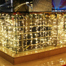 connectable 4m 96 Led Icicle curtain string light door Led Christmas lights outdoor window party holiday Wedding Decoration(China)