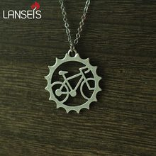 1pcs rider Bicycle pendant necklace Beautiful Unique Charm jewelry outdoor riding friend commemorate ,witness of friendship(China)