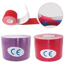 Muti color 2.5cmX5m Exercise Therapy Bandage Tape Outdoor Kinesiology Muscles Care Elastic Therapeutic Tape Running Jogging