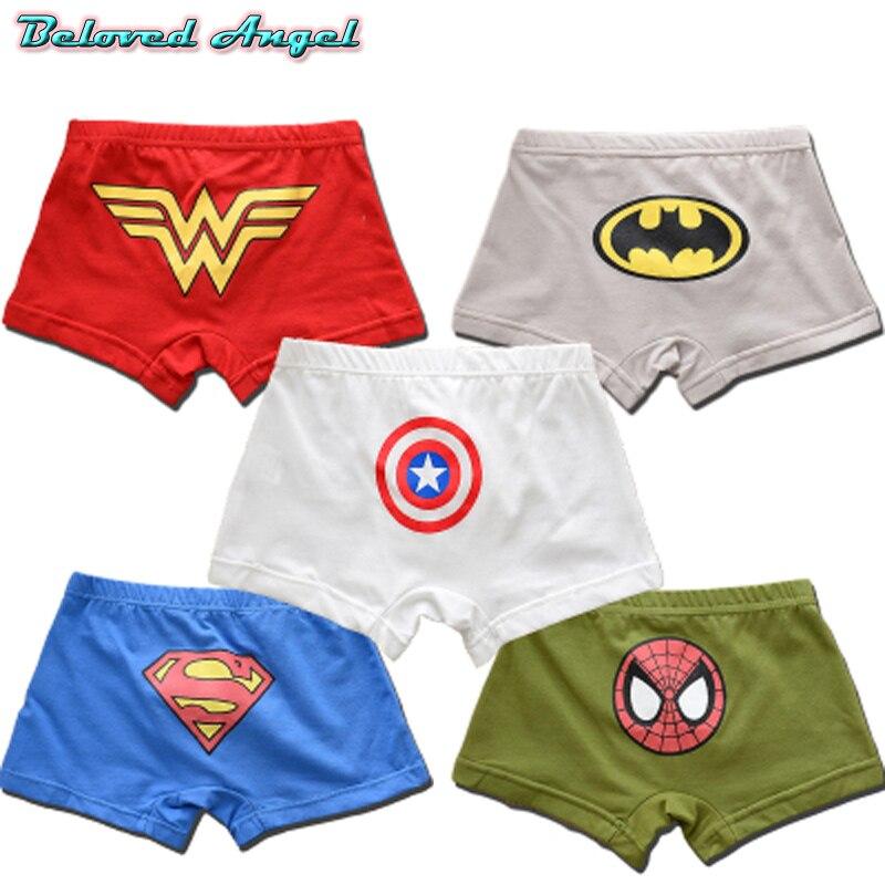 Batman Children/'s Novelty//Cartoon Underwear 100/% Cotton Boys Boxer Briefs Model
