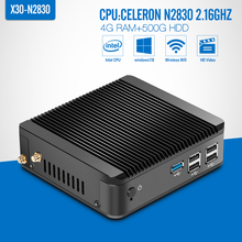 Industrial PC Mini Computer Station Fanless Industrial N2830/N2840 4G RAM 500G HDD+WIFI Thin Client