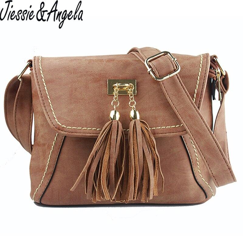 Casual women tassel bag designer handbags high quality leather handbag shoulder bags for women  messenger bag bolsa feminina<br><br>Aliexpress