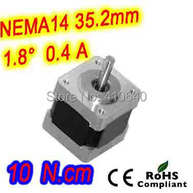 FREE SHIPPING stepper motor 14HS13-0406S L 34mm Nema 14 with 1.8 deg 0.4 A  10 N.cm with unipolar 6 lead wires<br><br>Aliexpress