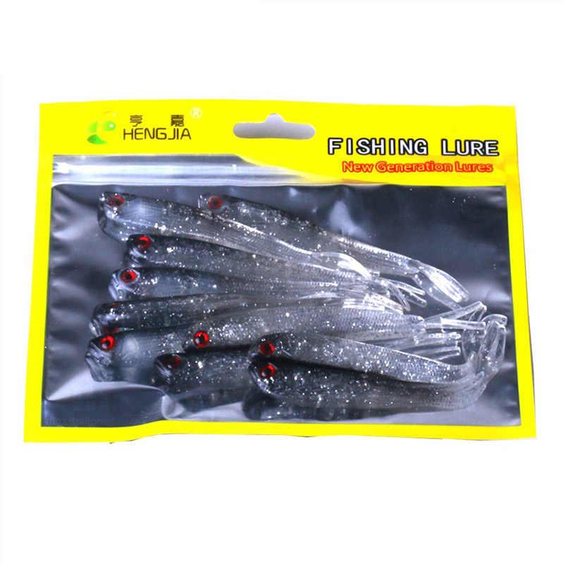 10pcs 8cm//2.2g Fish Soft Lures Worm Bass Freshwater Wobblers Artificial Bait