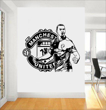 Large Design Zlatan Ibrahimovic Football Player Vinyl Wall Decals Stickers For Kids Room Boy Bedroom Vinilos Paredes A212