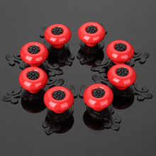 8Pcs Furniture Handle Ceramic Cabinet Knobs and Handles Door Cupboard Drawer Kitchen Pull Handle Furniture Fittings Black Red