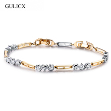 Buy GULICX Gold-color Fashion Tiny CZ Crystal Cubic Zirconia Stone Women Chain Link Bracelets Wholesale Price for $3.65 in AliExpress store