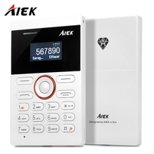 AIEK E1 1.0 inch Mini Cell Card PhoneQuad Band Card Phone FM Audio Player Unlocked Small Mobile Phone for Children gifts
