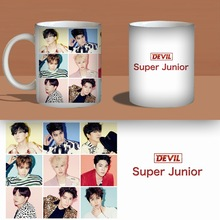 super junior Devil Color Changeing Mug Print Anime Coffee Cup Man Morning Tea Cups With Gift Box