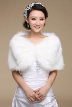 Women Winter Sleeveless White Bridal Wraps Warm Ivory Faux Fur Black Bridal Bolero Crop Red Faux Fur wedding Jacket