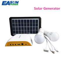 EASUNPOWER Solar Generator Portable 3W Mini DC 3.7V Solar Panel Power 4.4AH Lithium Battery Outdoor Charging LED Lighting System(China)