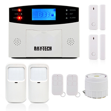 DAYTECH GSM Alarm System With LCD Display Siren PIR Motion Sensor Wireless Zones Remote Control Wireless PIR Door Gap Detector()