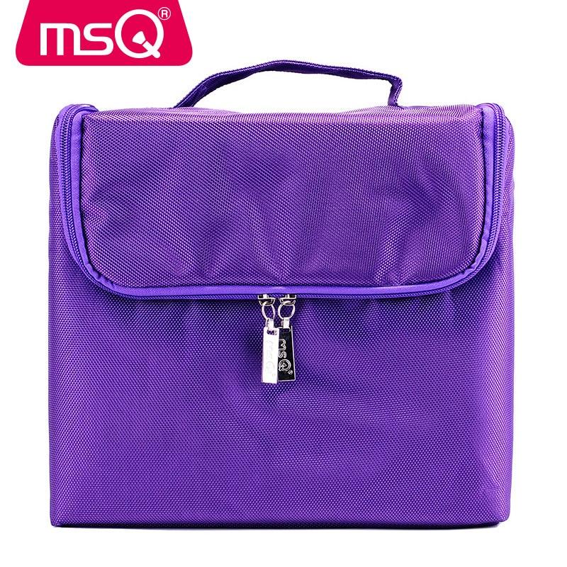 MSQ Beauty Case Professional Makeup Suitcase Oxford Cloth Box 3 Color Makeup Box Zipper Tattoo Box Storage Box Makeup Bag<br>