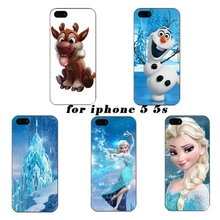 0562 On beautiful Elsa skin custom design cell phone bags case cover for iphone 4S 5S 5C SE 6S 7 PLUS Samsung S6 S7 NOTE IPOD 5