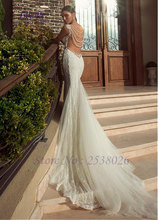 Liyuke J293 Chic Tulle Sweetheart Mermaid Wedding Dress Sweet 16 Beading Pearls Elegant Illusion Spaghetti Straps Bridal Dress