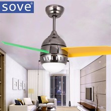 36 Inch Modern Quiet Ceiling Fan Kids Room Ceiling Fans With Lights  Mini fan lamp Children Bedroom ceiling light Fan Lamp