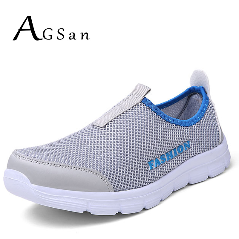 AGSan air mesh men casual shoes slip on loafers unisex breathable footwear blue grey rose chaussure homme big size 45 46<br><br>Aliexpress