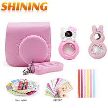 Fujifilm Instax Mini 8 Accessories Camera Case Bag Hello Kitty Rabbit Selfie Portrait Mirror Close-up Lens Filters Photo Sticker