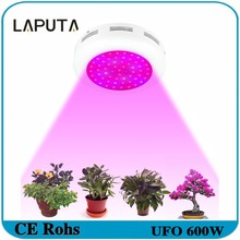 1pcs LAPUTA Newest Designed Led Grow Light UFO 600W Full Spectrum Double Chips Best for Indoor Greenhouse Hydroponic Systems